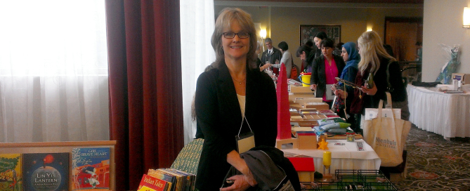 Nancy at the Montessori conference