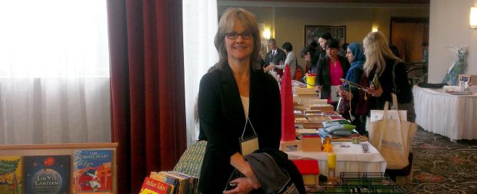 Nancy at the Montessori conference